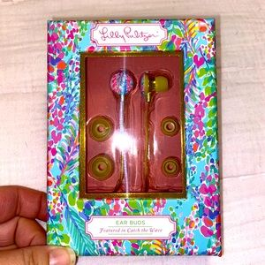 ♦️NWT Lilly Pulitzer Catch The Wave Earbuds